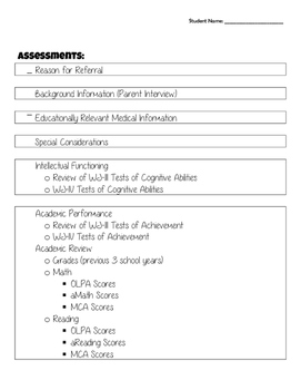 Special Education Paperwork Checklists