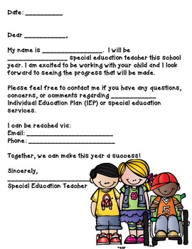 Special Education-Parent Communication Pack