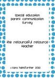 Special Education Parent Communication Survey