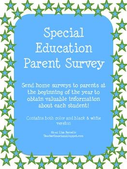 Special Education Parent Survey