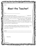 Special Education Parent Survey (Beginning of Year)