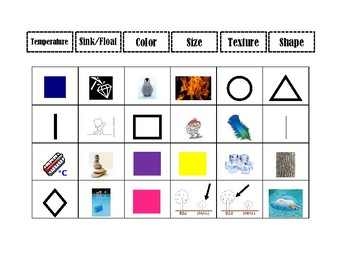 Special Education: Physical Science Properties of Matter Sort