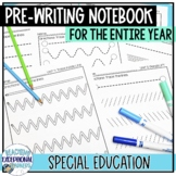 Special Education Pre-Writing Notebook- School Year BUNDLE