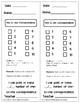Special Education Preschool Math Assessments - Number Sense Skills