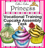 Special Education Task Box Princess Cupcake Assembly