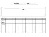 Special Education Progress Monitoring Documentation form