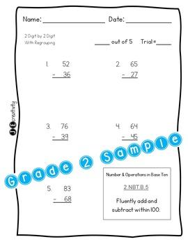 Pack 1/Math 2nd Grade Special Education Progress Monitoring