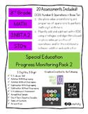 Pack 2/Math 3rd Grade Special Education Progress Monitoring