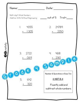 Pack 3/Math 4th Grade Special Education Progress Monitoring