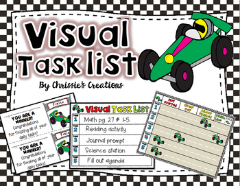 Special Education RTI Visual Task List Behavior Intervention