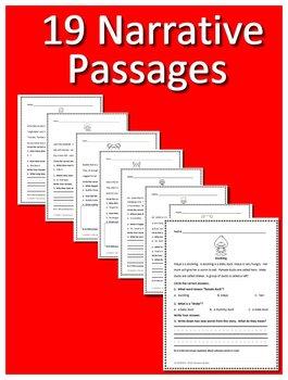 Special Education Reading Comprehension Test Prep Practice Tests - Narratives