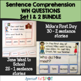 Special Education Reading Comprehension:WH Questions BUNDLE