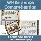WH Questions: 2 Sentence Stories SET 2 (Special Education)