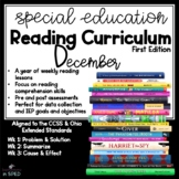 Special Education Reading Curriculum- December- Reading Sk