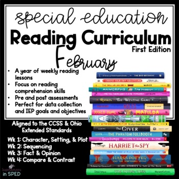 Special Education Reading Curriculum- February- Reading Skill-Comprehension Unit