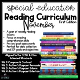 Special Education Reading Curriculum- November- Reading Skill-Comprehension Uni