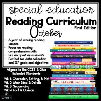 Special Education Reading Curriculum- October- Reading Ski