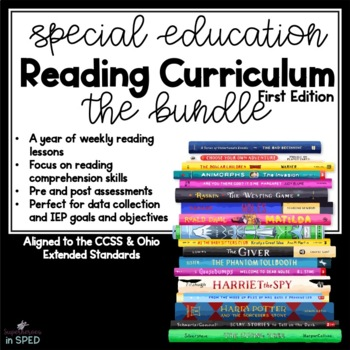 Special Education Reading Curriculum Bundle 37 weeks of reading skills