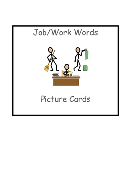 Special Education Reading:Functional Job/Work Words Picture ID
