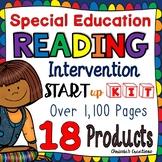 Special Education:  Reading Intervention:  Start up kit Bundle