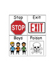 Special Education Reading: Road Signs/Words Picture ID
