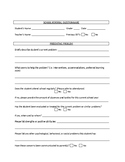 Special Education Referral Questionnaire