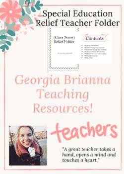 Special Education Relief Teacher Folder