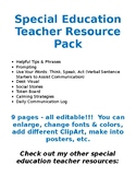 Special Education Resource Pack