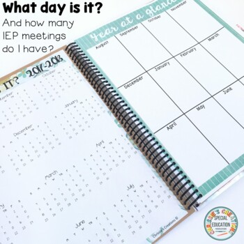 Special Education Resource Teacher (Semi Editable) Yearly Planner and Organizer