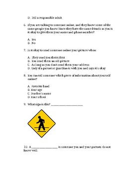 Special Education Safety Quiz 1