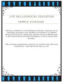 Special Education Sample Schedule (Freebie) (editable)