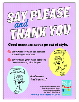 Special Education: Say Please and Thank You Poster