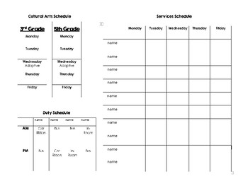 Special Education Schedule Template (Editable)