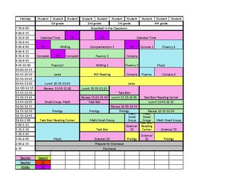 special education schedule template editable teaching resources