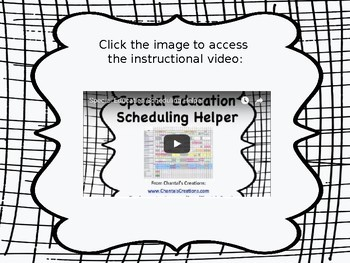 Special Education Scheduling Helper