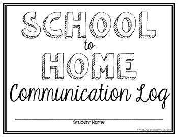 Special Education - School to Home Communication Log