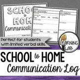 School to Home Communication Log