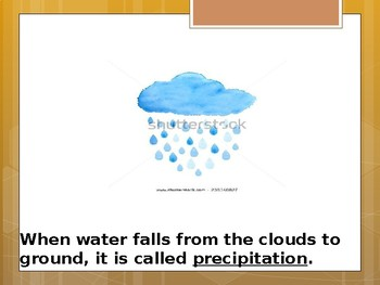 Special Education Science - Foundational Text - Water Cycle