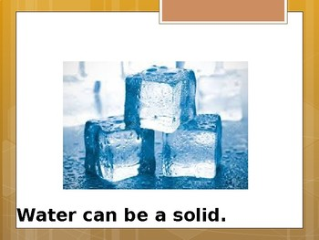Special Education Science - Foundational Text - Water as a solid, liquid or gas