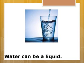 Water as a solid, liquid or gas - Special Education Science - Foundational Text