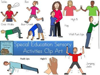 Special Education Sensory Activities Clip Art By Lisa