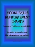 Special Education Social Skills Reinforcement Chart Pack