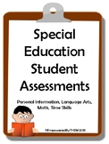 Special Education Student Assessments