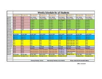 Special Education Student/Class Schedule