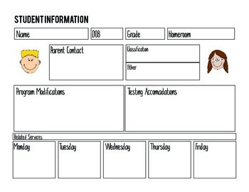 Special Education Student Information & IEP - Information Sheet