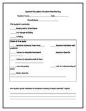 Special Education-Student Monitoring