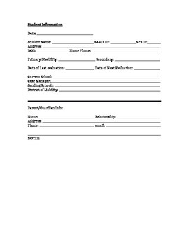 Special Education Student Planner