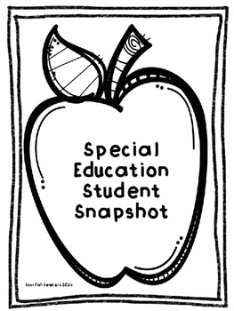 Special Education Student Snapshot
