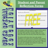 Special Education Student and Parent Reflection Forms