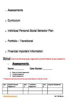 Special Education  Student's Portfolio